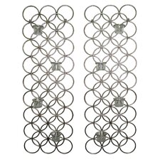 <strong>Hazelwood Home</strong> Metal Sconce (Set of 2)