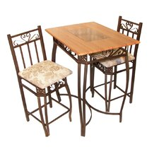 "Barcelona 3 Piece 35"" Pub Table Set"