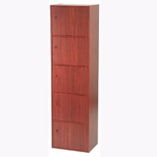 Five Door Utility Cabinet in Mahogany