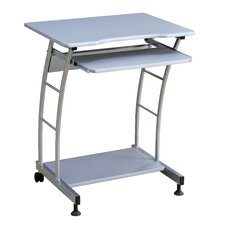 Hazelwood Home Computer Cart 4410 in Silver