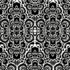 Handcrafted Folk Damask Wallpaper Sample