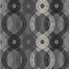 <strong>Kreme LLC</strong> Handcrafted Spiro Geometric Wallpaper