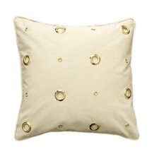 <strong>Kreme LLC</strong> Textured Grommeted Cotton Pillow