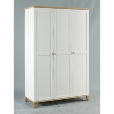 Chicago Three Door Wardrobe in White