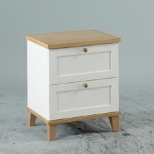 Chicago 2 Drawer Bedside Table