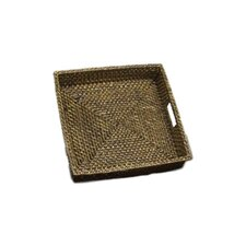 Rattan Square Serving Tray