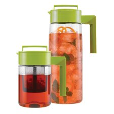 24 Oz Flash Chill Iced Tea Maker and 66 Oz Pitcher with Silicone Handle in Olive