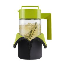 40 Oz Tea Maker with Jacket and Handle in Olive