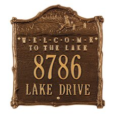 Fisherboy 'Welcome to the Lake' Address Plaque