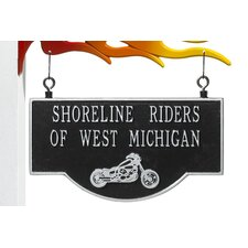 Garage Motorcycle Two-Sided Hanging Sign