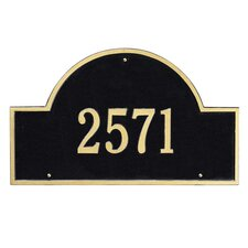 Arch Marker Address Plaque