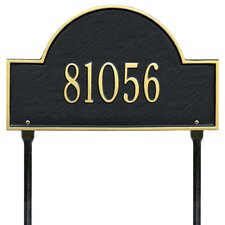 Arch Marker Address Sign