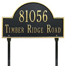 Arch Marker Standard Address Sign