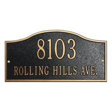 Rolling Hills Address Plaque