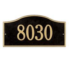 Rolling Hills Grand Address Plaque