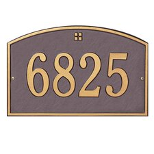 Cape Charles Address Plaque