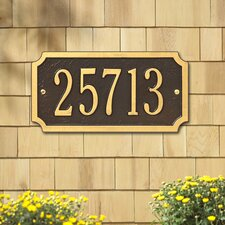 Cut Corner Standard Address Plaque