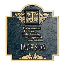 Emerson Monogram Standard Plaque