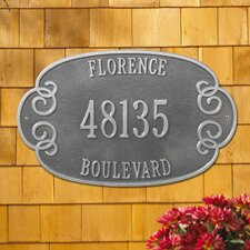 Florence Estate Address Plaque