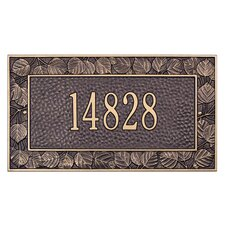 Aspen Standard Address Plaque