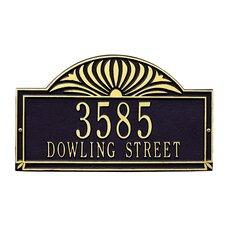 Sunburst Standard Address Plaque