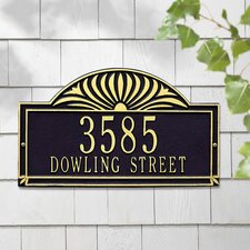 Sunburst Standard Address Plaque
