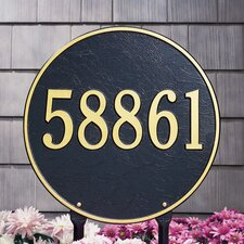 Round Address Sign