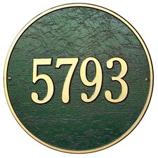 Round Address Plaque
