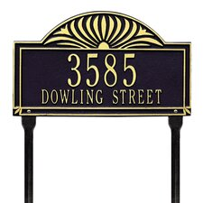 Sunburst Standard Address Sign