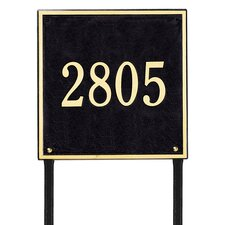Square Estate Address Sign
