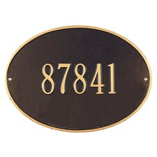 Hawthorne Standard Address Plaque