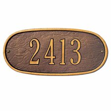<strong>Whitehall Products</strong> Oval Standard Address Plaque