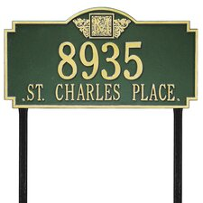Monogram Estate Address Sign