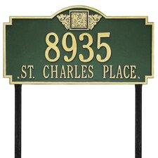 Monogram Estate Address Sign