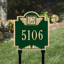 Monogram Standard Address Sign