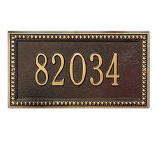Egg and Dart Standard Address Plaque