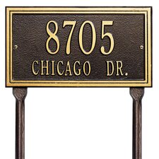 Double Line Standard Address Sign