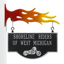 <strong>Whitehall Products</strong> Garage Motorcycle Two-Sided Hanging Sign