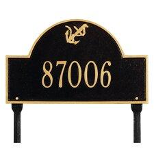 Anchor Arch Lawn Address Sign