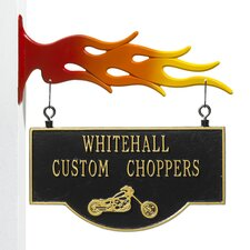Garage Chopper Two-Sided Hanging Sign