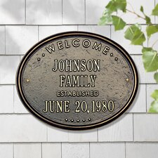 Welcome 'Family' Garden Plaque