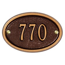 Oval Ultra Petite Address Plaque