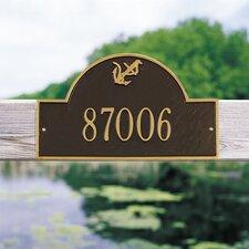 Anchor Arch Standard Address Plaque