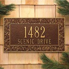 Oakleaf Address Plaque