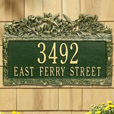 Woodland Hummingbird Standard Address Plaque