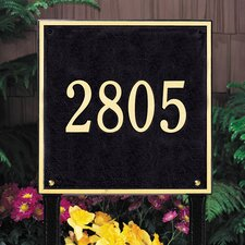 <strong>Whitehall Products</strong> Square Estate Address Sign