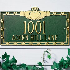 Claddagh Standard Address Plaque