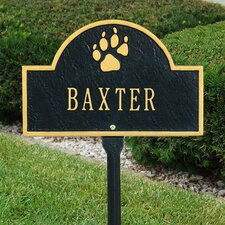 Pet Paw Mini Arch Lawn Plaque