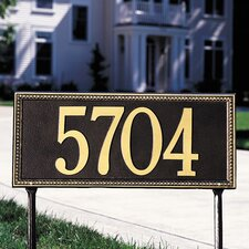 Egg and Dart Estate Address Sign