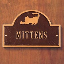 Pet Cat Mini Arch Plaque